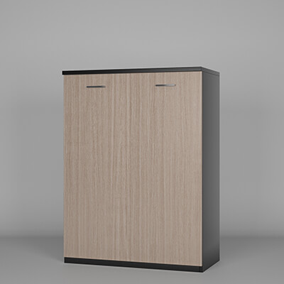 armoire basse bois 2 portes battantes groupe le metal. Black Bedroom Furniture Sets. Home Design Ideas
